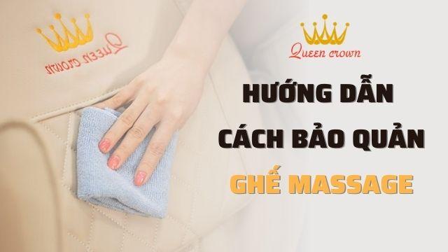 Hướng dẫn cách bảo quản ghế massage toàn thân dùng được lâu bền