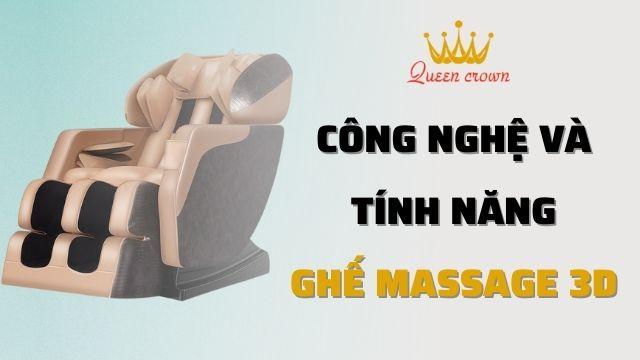 Ghế Massage 3D Là Gì? Tính Năng Của Ghế Massage 3D