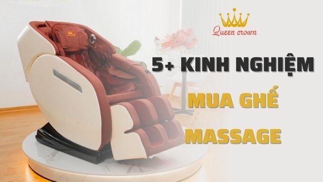 10+ Kinh nghiệm mua ghế massage toàn thân tốt cho gia đình