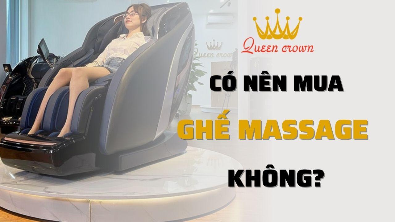 Có nên mua ghế massage không? Ai nên và không nên sử dụng?
