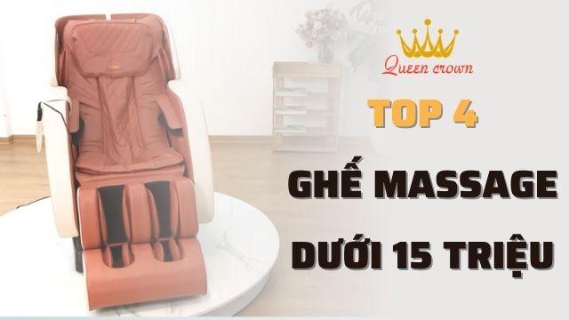 Top 4 mẫu ghế massage giá rẻ dưới 15 triệu đáng mua nhất
