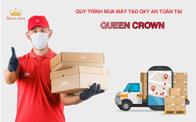 Quy trình mua máy tạo oxy an toàn tại Queen Crown