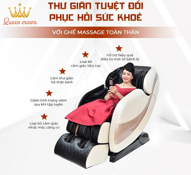 Ghế massage có hiệu quả trong việc trị đau nhức mỏi không?