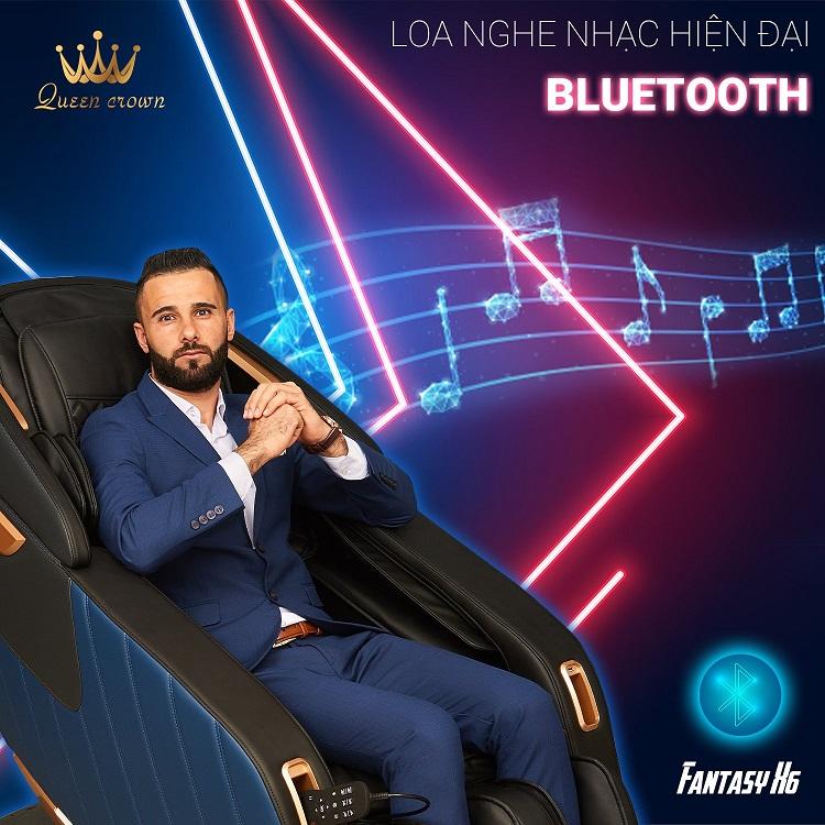 Fantasy X6 được trang bị loa Hifi có thể kết nối bluetooth nghe nhạc hiện đại