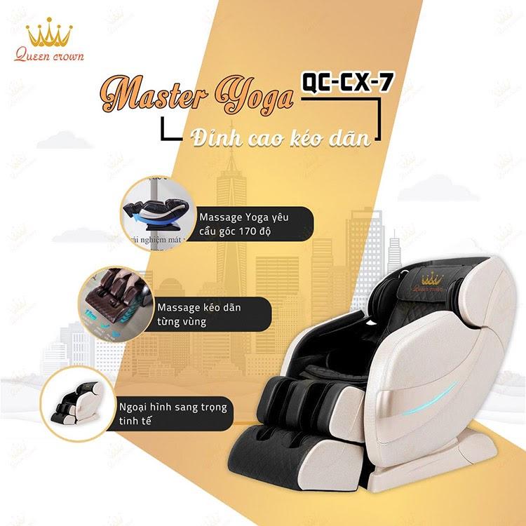 Queen Crown QC CX7 có bài tập kéo giãn đỉnh cao giúp thư giãn cơ bắp tối đa