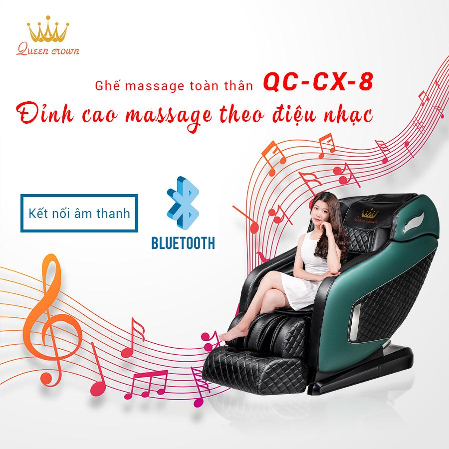 Queen Crown QC CX8 được trang bị loa Hifi hiện đại mang đến trải nghiệm thư giãn đỉnh cao