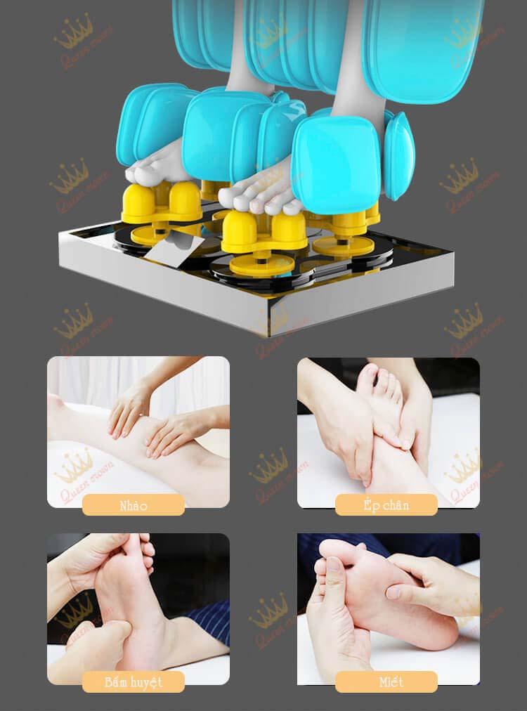 Tính năng massage chân chuyên sâu Qc L8
