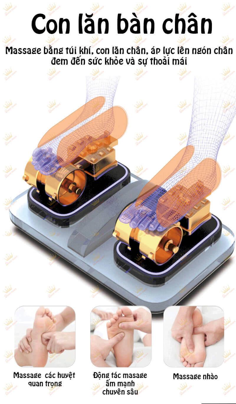 Cải tiến sục massage chân cạo
