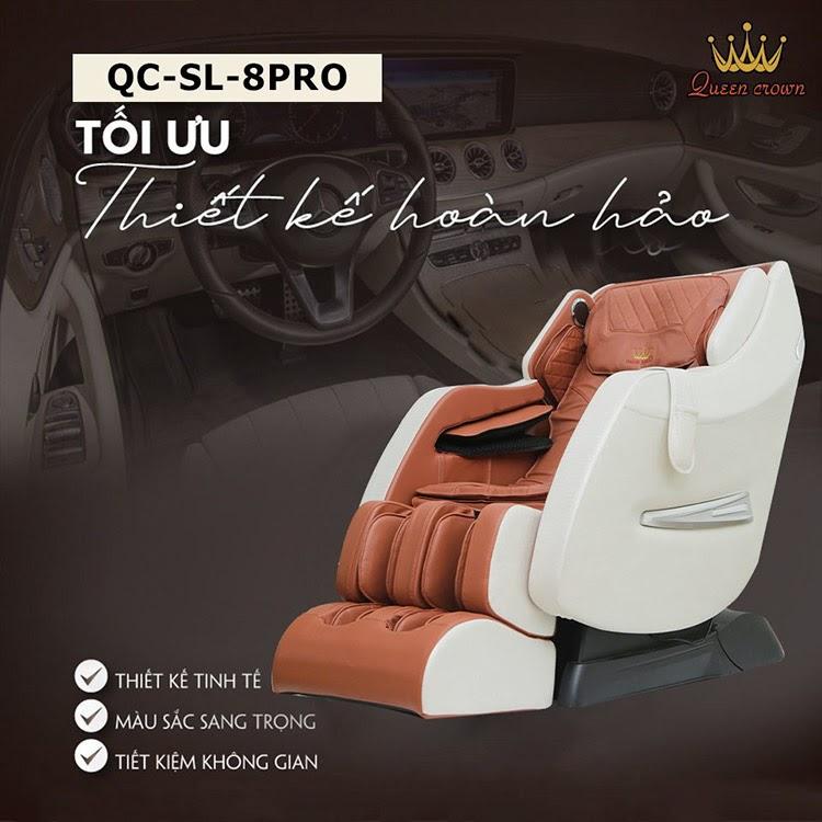 Queen Crown QC SL8 Pro có thiết kế sang trọng, đẳng cấp thương gia