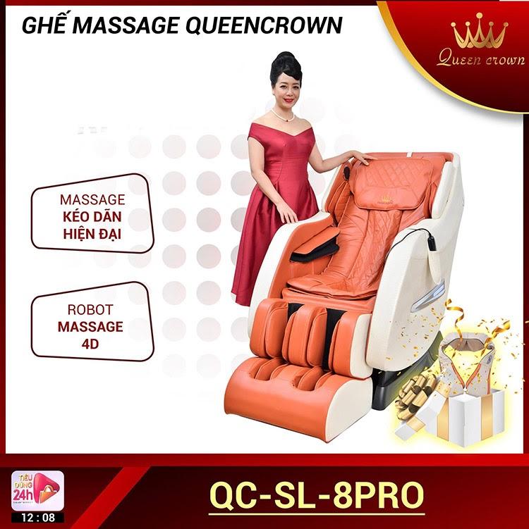 Queen Crown QC SL8 Pro ứng dụng công nghệ massage 4D bằng hệ thống rô bốt massage hiện đại