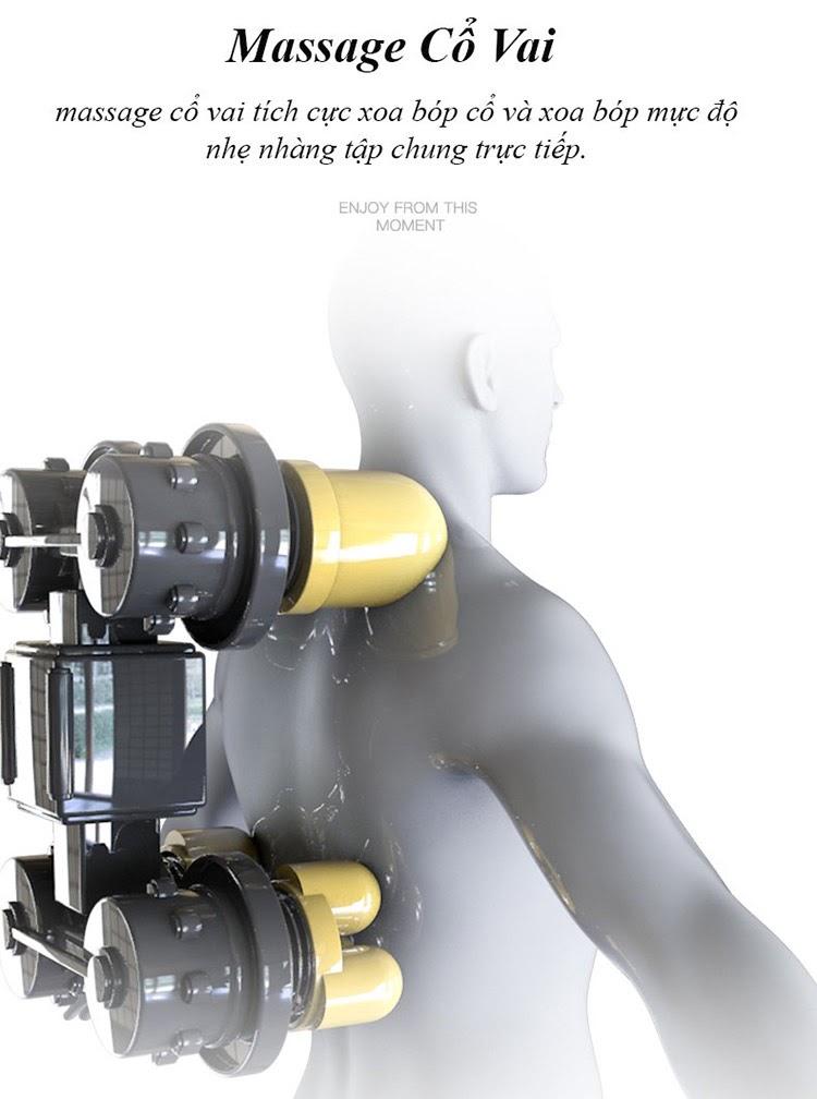 Ghế massage Queen Crown QC T19 trang bị hệ thống bi lăn số lượng lớn